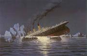 . va enviar una postal que mostrava una foto del Titanic a sa mare, .