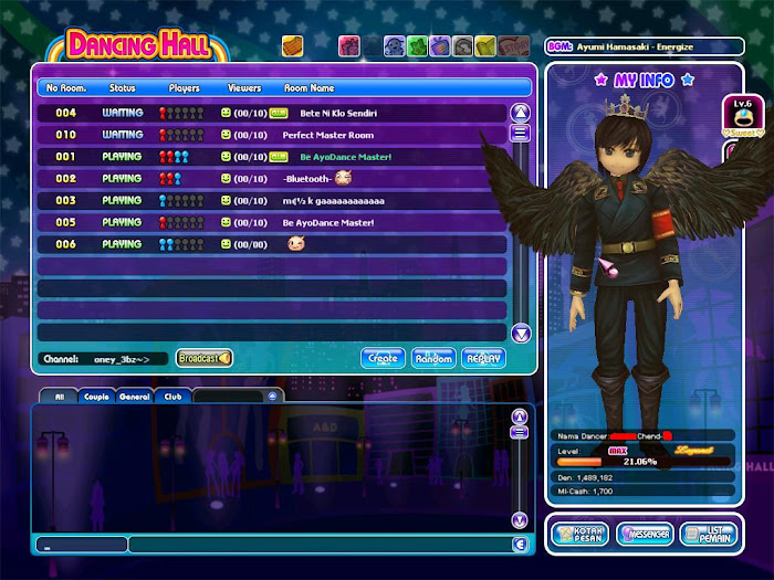 Gambar Game Ayodance Avatar Lv 99