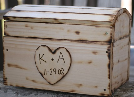 For sale is a Wedding Card Box OR Treasure Box personalized with a heart