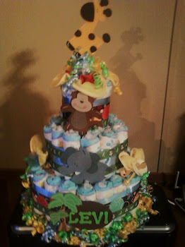 Jungle Safari Centerpiece Cake Custom order