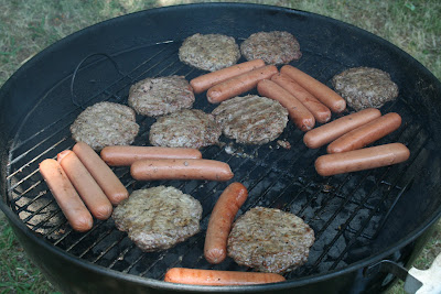 burgers and hot dogs
