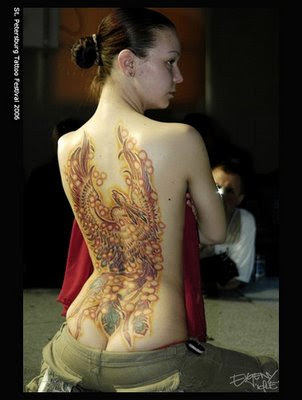 girls Phoenix Tattoo. Best Design Sexy Phoenix Tattoo