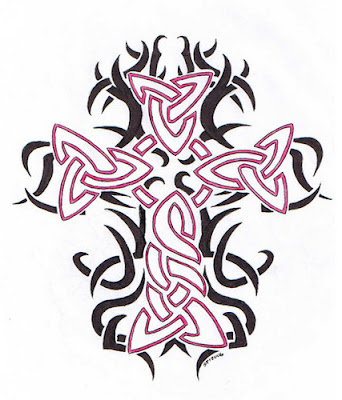 tribal cross tattoos. Tribal Cross Tattoo designs