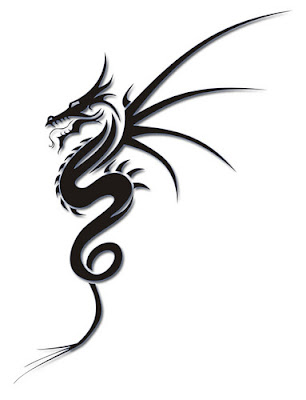 simple tribal dragon tattoo design. simple tribal dragon tattoo design