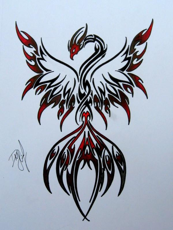 Labels phoenix tattoo designs