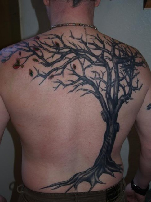 Japanese Tree Tattoo Art - Back Tattoos