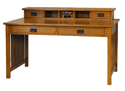 mission style writing desk Mission style desk staples sites  bush furniture mission creek 48w writing desk, antique cherry, 4716w x 2318d x 30h item : 2128545 .