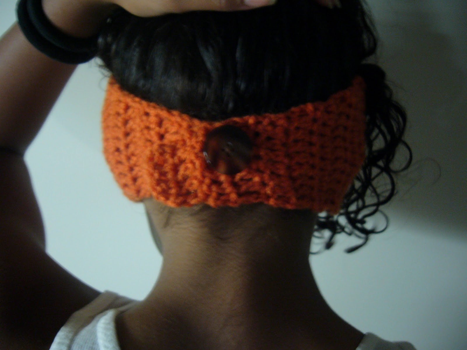 Crochet Patterns Head Warmers : ... crochet hook a button that will fit in between your double crochet