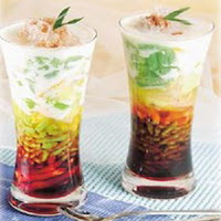 Cendol Indonesian traditional beverage