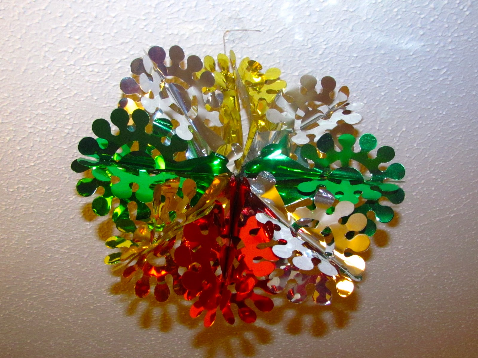 The bookworm thursday thirteen christmas decorations for Christmas ceiling decorations