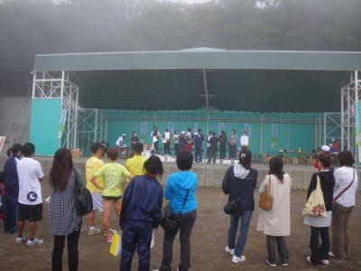 女子10kmの部表彰式