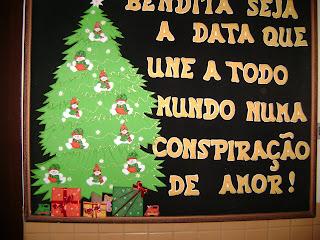 Pescar ideias painel de natal for Mural sobre o natal