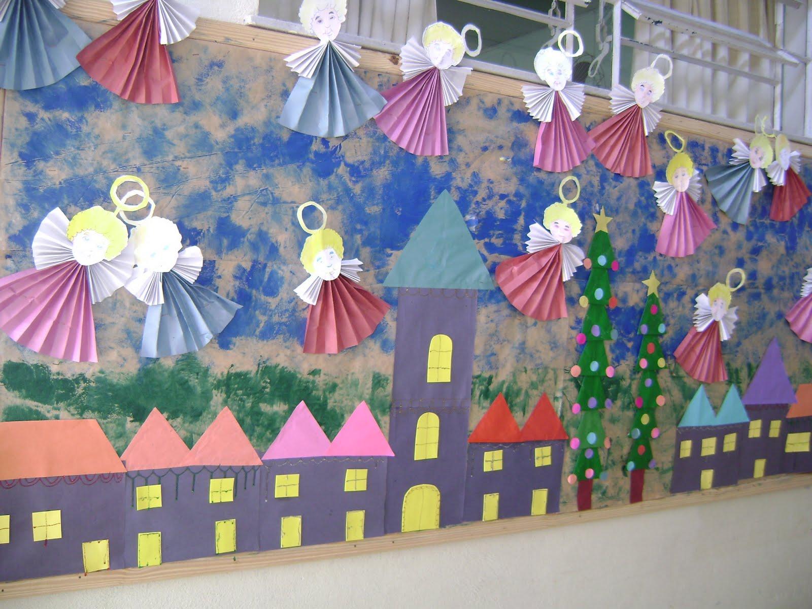 Pescar ideias painel de natal for Como decorar un mural