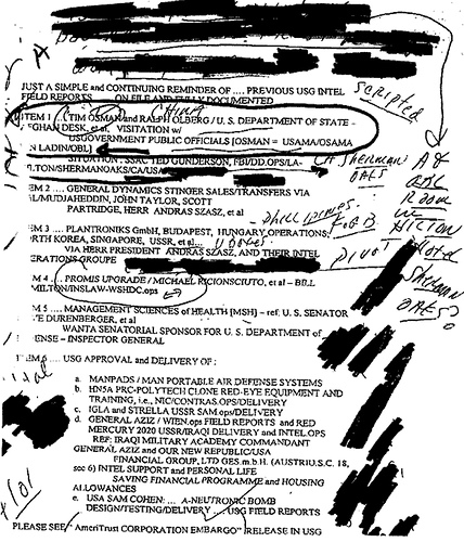 Uncle Sam Agent, The Osama binLaden