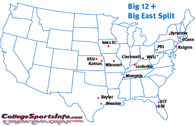 big12 bigeast split Whats Next for the Remains of the Big 12: A Look at Some Options