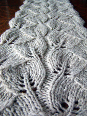 Leaf Lace Scarf Free Knitting Pattern Very Simple Free Knitting