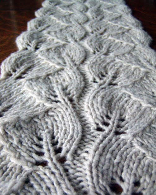 Knitting Pattern Leaf Lace : knit spit: scarf love