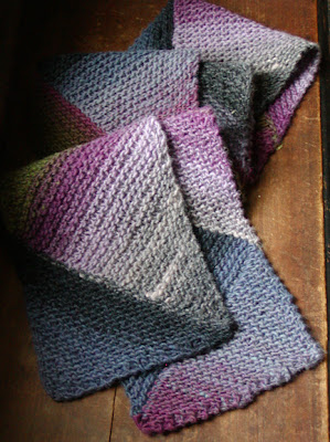 Knitting Pattern For Multi Directional Scarf : knit spit: Multi-directional Diagonal Scarf