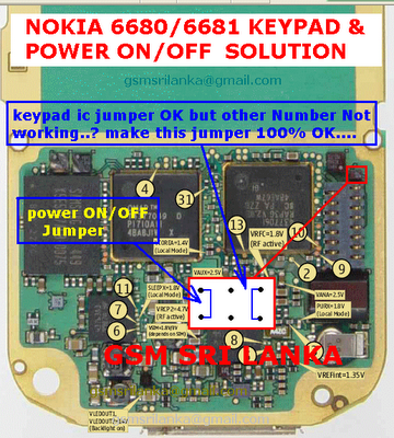 nokia+6680+solution NOKIA 6680 Power ON/OFF And Keypad solution