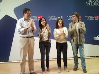 Óscar López, Beatriz Corredor (Ministra Vivienda), Iratxe García, Carlos Martínez