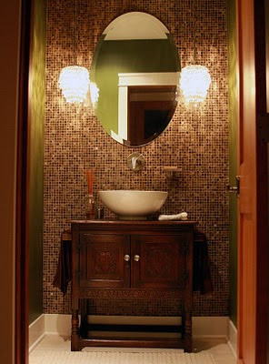Herchekshmerchek powder bathroom - Powder room tile ideas ...