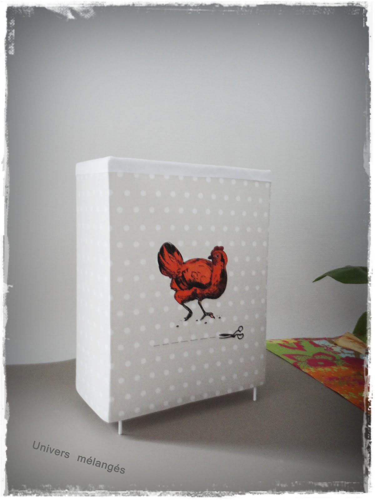 """Lampe Poule univers mélangés: la lampe """"petite poule rousse"""""""