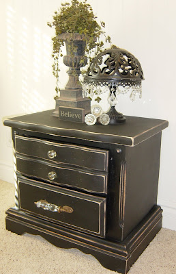 Black Distressed Nightstand (SOLD)