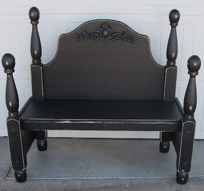 Black Distressed Bench (SOLD)