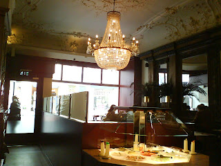Wonder if the fancy chandelier means the food tastes better.