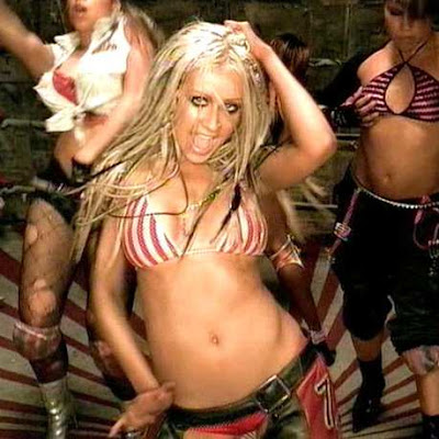 See, for REAL, I'm not Britney!  I like sweatiness & chaps and dancing in wet boxing rings!!