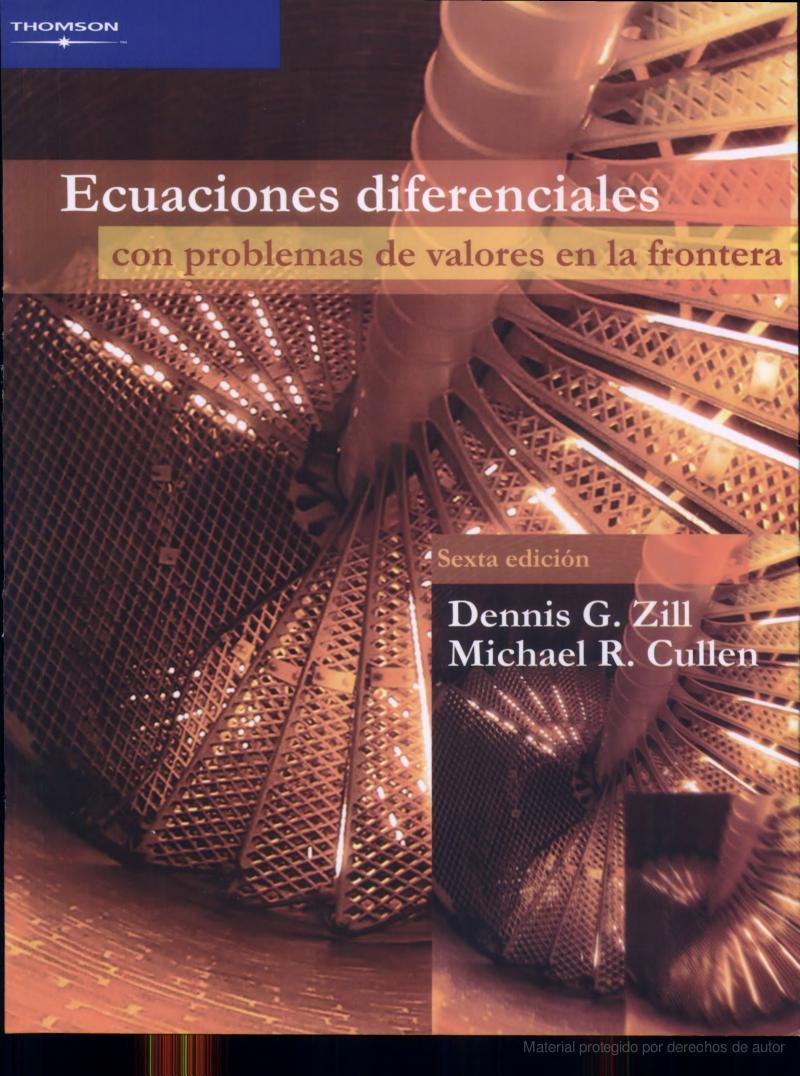Ecuaciones Diferenciales Dennis Zill 7 Edicion