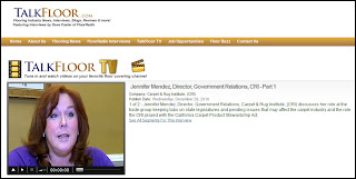 CRI's Jennifer Mendez Covers State Legislatures for Carpet Industry: TalkFloorTV