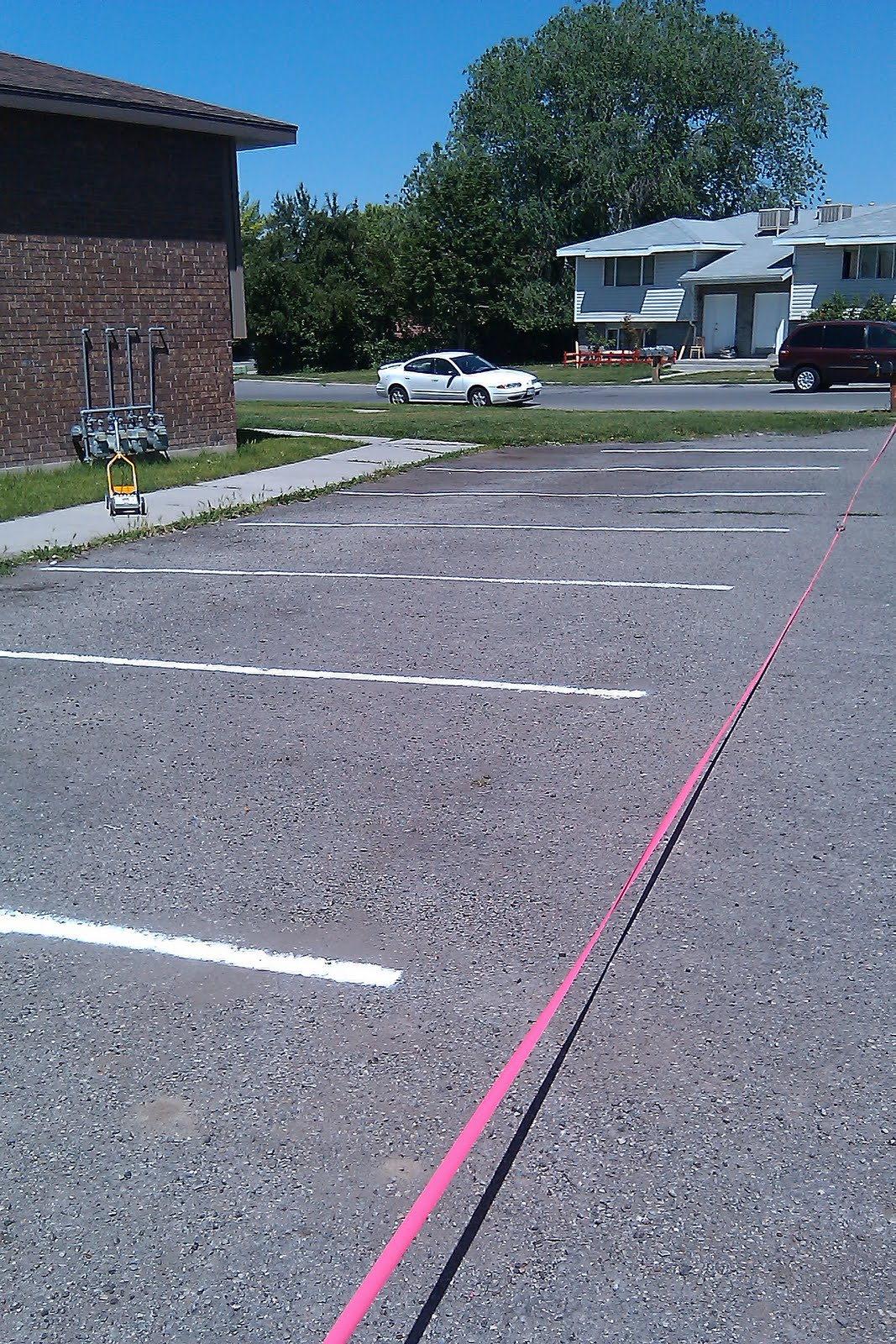 My blahg i am not a professional striper for Cost to paint parking lot lines
