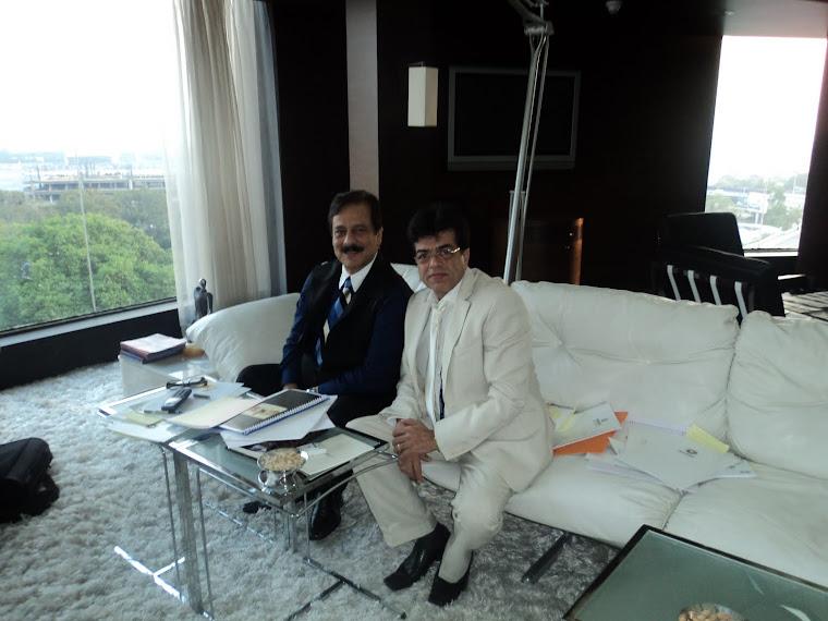 Sahara Shri Subrata Roy & Mukesh sharma