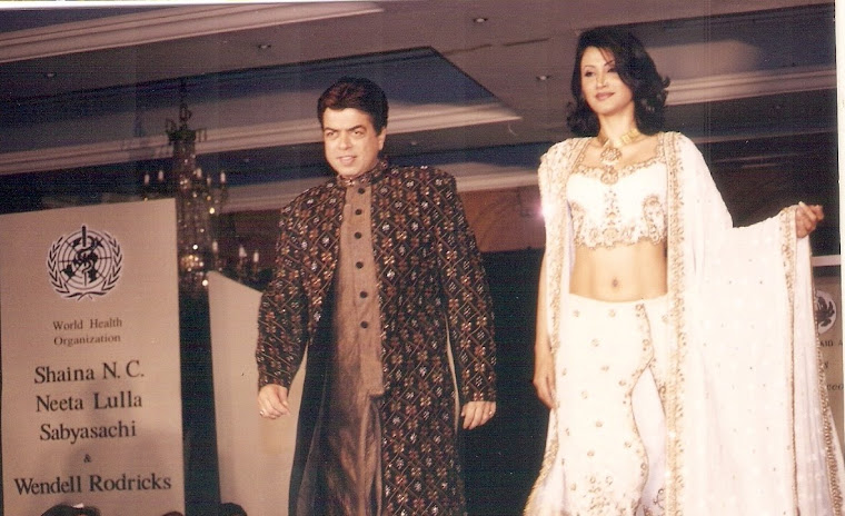 Cat Walk for a cause in Nita Lulla's creation with the Model Reshma Bombaywala