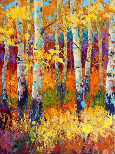 Art gal take the time to enjoy art gallery paintings for Autumn tree painting