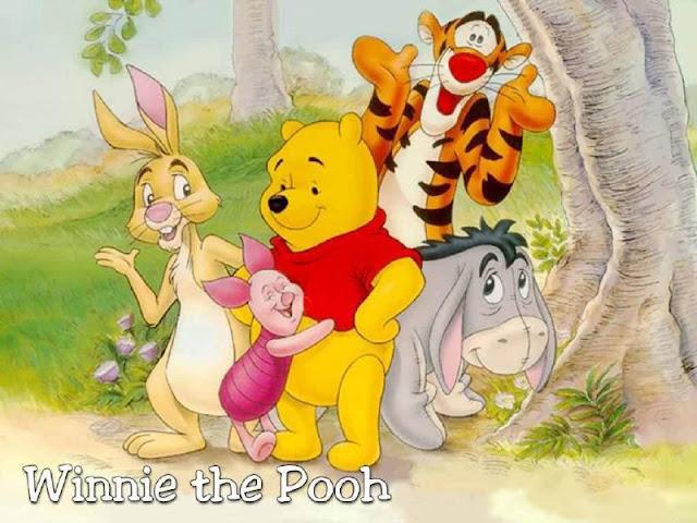 Cartoon wallpaper winnie the pooh and Friend