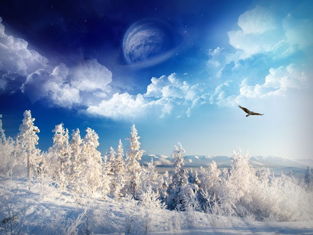 Winter wallpaper worderlan blue sky