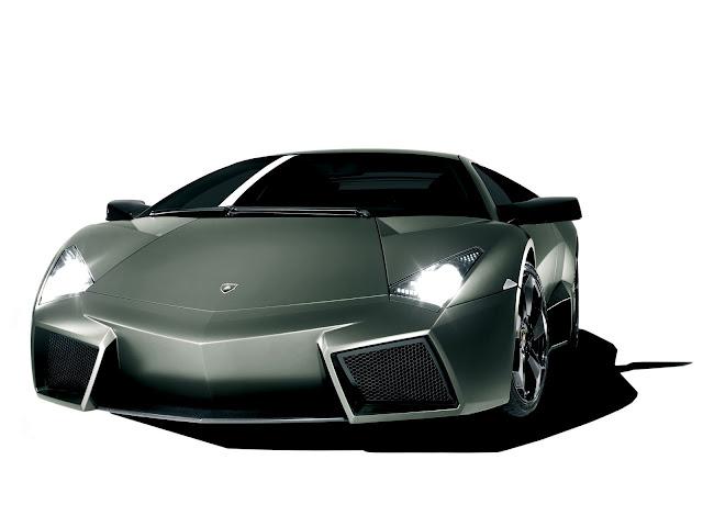 Silver Lamborghini Reventon Front Wallpaper