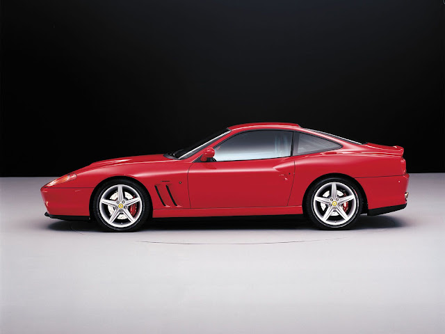 Side Red Ferrari 550 Maranello Wallpaper