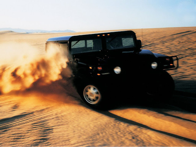 Hummer H1 Desert Desktop Wallpapers