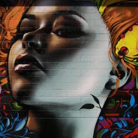 Gambar lukisan graffiti di tembok