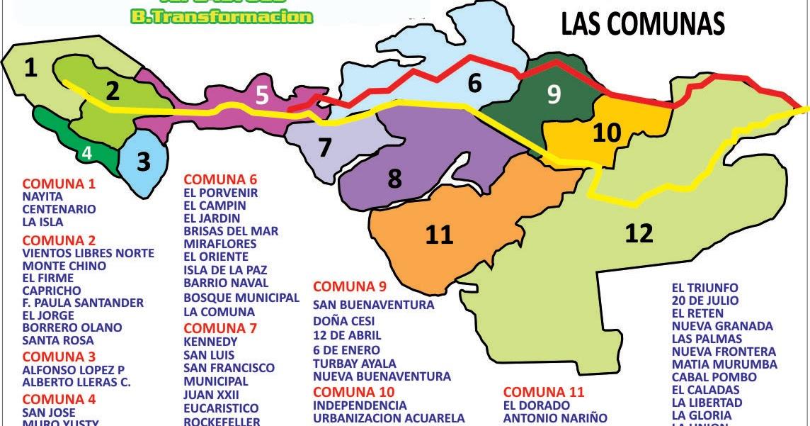 Valle colombia cauca de buenaventura plano del ▷▷ PLAYAS