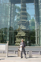 My buddy Steve in front of 10-tiered pagoda which is Korea's National Treasure No. 2