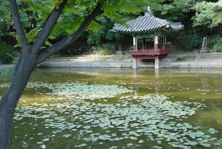 Jondeokjeong pond, whose first pavilion, pictured, was built in 1644, during the 22nd year of King Injo's reign