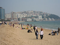 Looking north, at Haeundae Beach