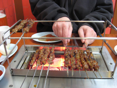 Chinese style lamb kebabs in Bongcheon