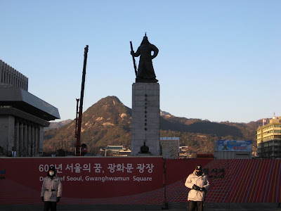 Admiral Yi statue, under construction