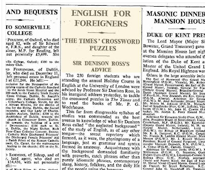 The Times of London, p. 8, July 22, 1938