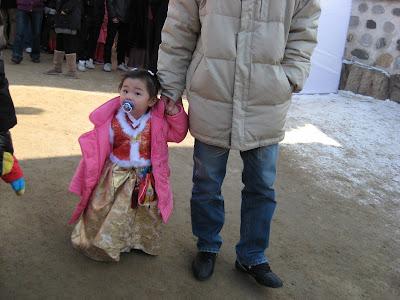 Seoul Seollal Festival, Namsangol Village, miniature hanbok